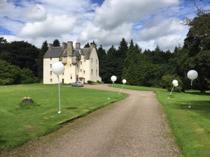 The scene was set set for the Ritz Trio to perform at a tradition Scottish wedding