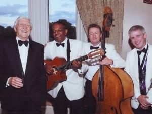 Michael Parkinson and Ritz Trio perform at Gleneagles Hotel in Scotland