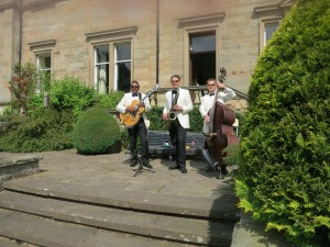 Ritz Trio performing at Errol Park Perthshire