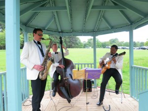 The Ritz Trio performing at Glencorse House