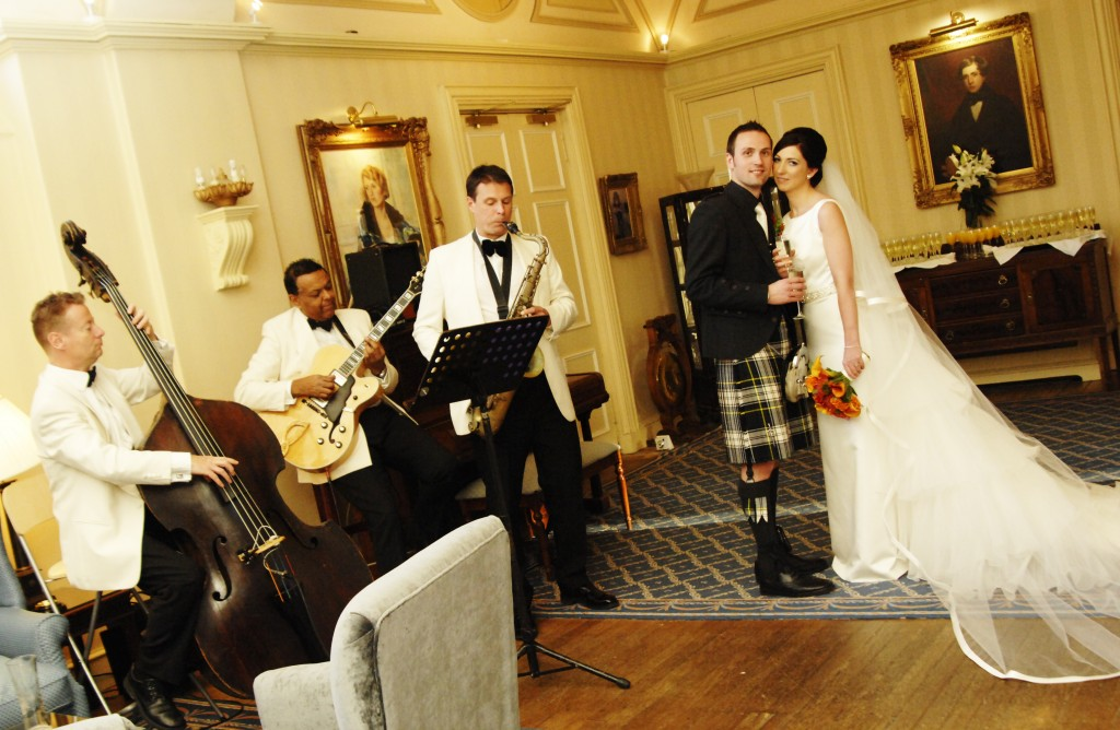 Ritz Trio performing at Balbirnie House