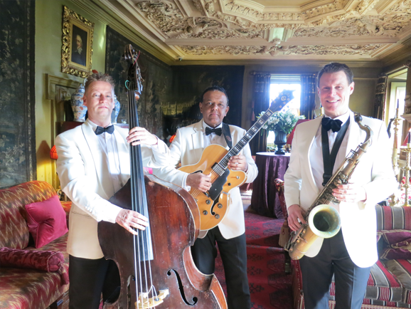 Ritz Trio performing at a wedding in Prestonfield House