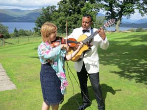 daytime wedding entertainment idea the ritz trio