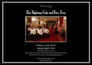 Gals and Ritz at Swing poster