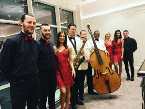 The Ritz Trio with dancers perform at the sparkling new Seamill Hydro