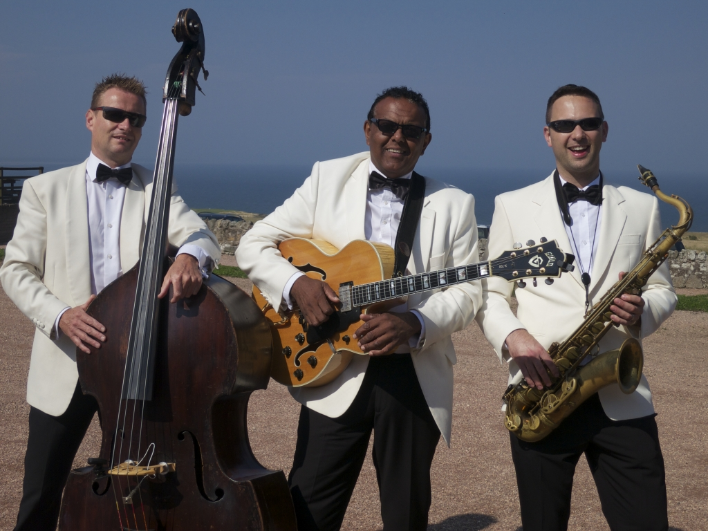 Daytime wedding entertainment Kinkell Byre Scotland Ritz Trio