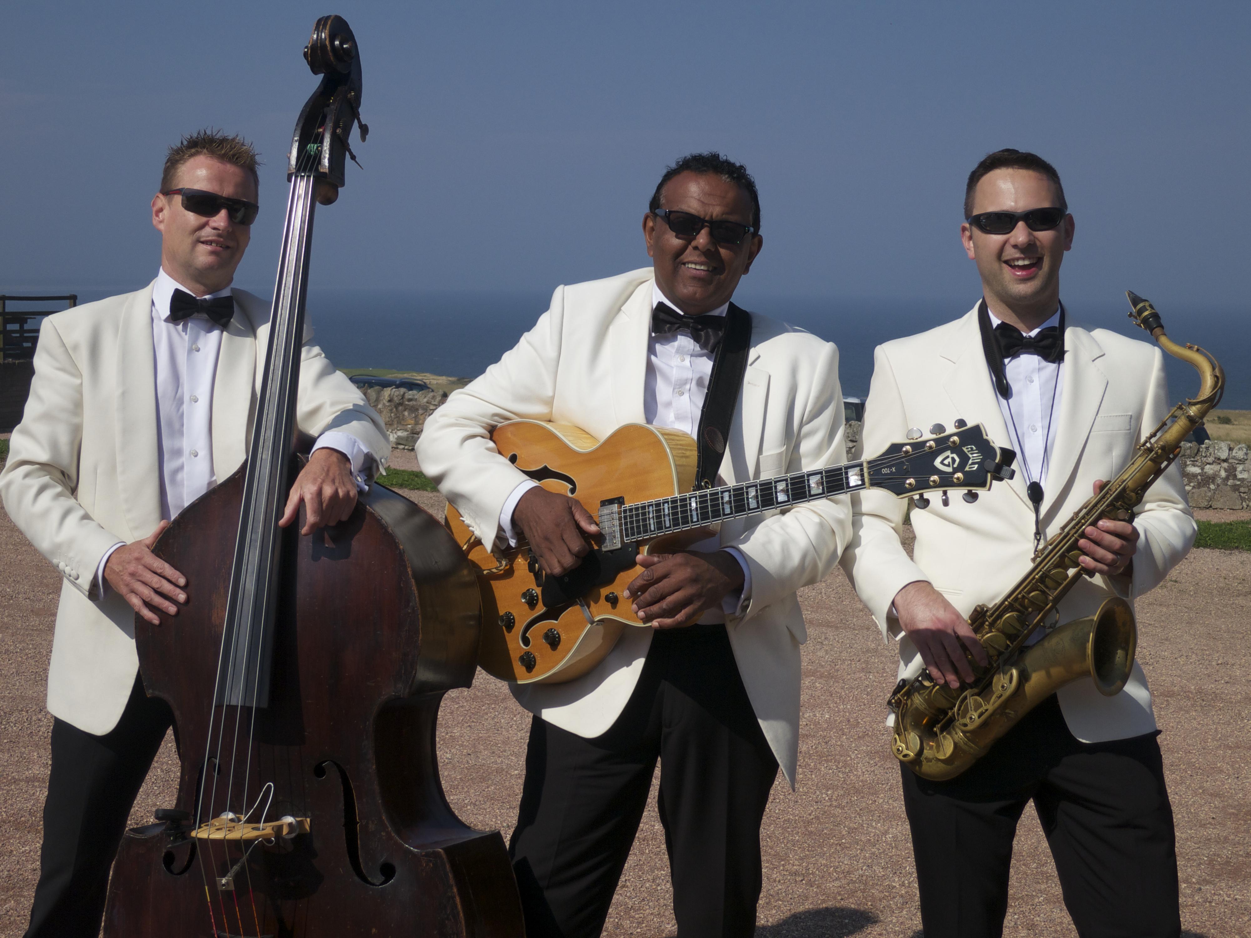 Daytime wedding entertainment Kinkell Byre Scotland Ritz Trio