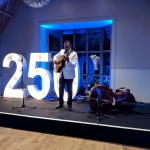 Ritz Trio guitarist Marcus Ford performs a solo number at Edinburgh Castle