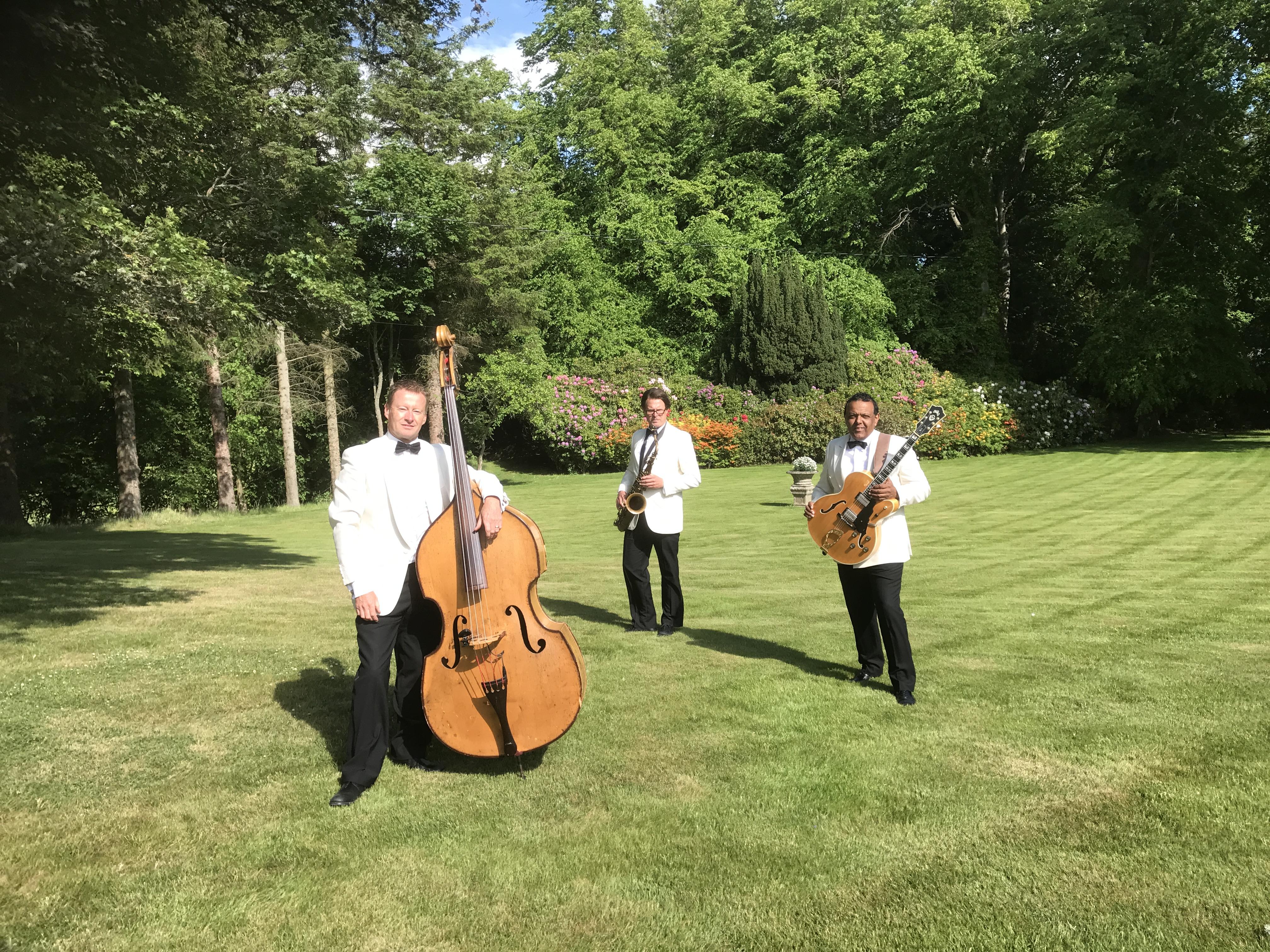 ritz trio, glencorse wedding band, jazz band edinburgh,