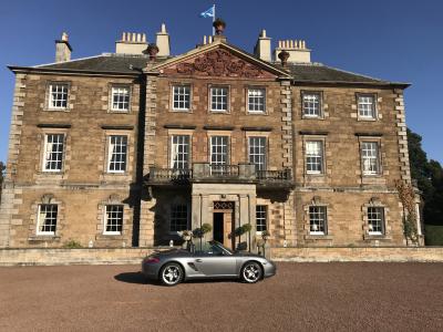 Porsche Boxster at Gilmerton House Ritz Trio