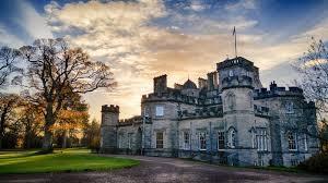 Photo of Winton Castle Wedding Venue by night