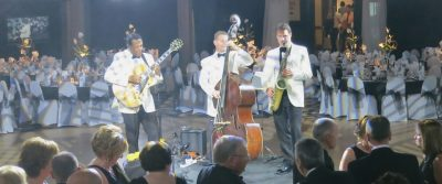 Corporate entertainment ideas in Scotland with the Ritz Trio jazz band