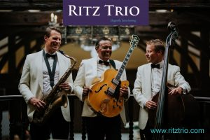 wedding band in Scotland the Ritz Trio at Crossbasket Castle