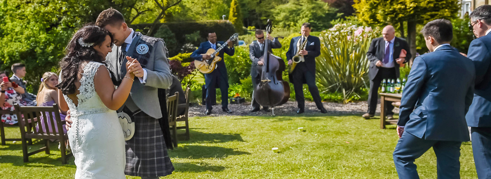 wedding jazz band in Scotland the Ritz Trio