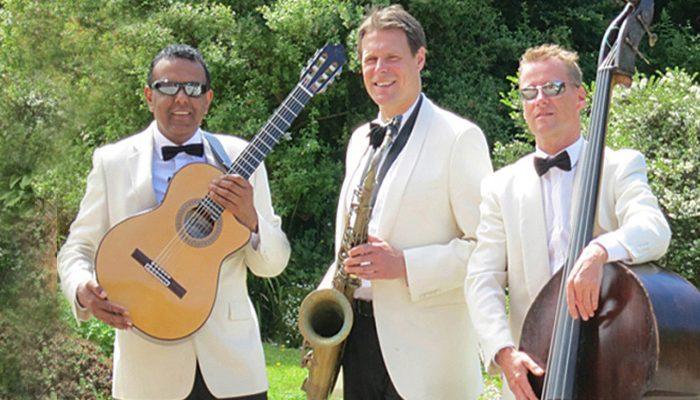 daytime wedding entertainment band Ritz Trio