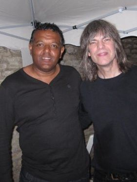 Guitarist Marcus Ford and guitar master Mike Stern